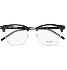 Saint Laurent - D-Frame Acetate and Silver-Tone Optical Glasses