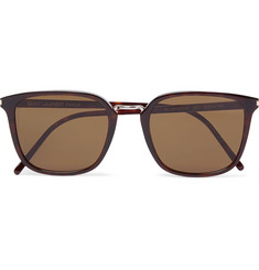 Saint Laurent - Square-Frame Tortoiseshell Acetate Sunglasses