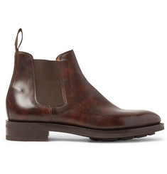 John Lobb Lawry Water-Resistant Burnished-Leather Chelsea Boots