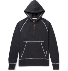 Albam - Slim-Fit Stretch-Cotton Jersey Half-Zip Hoodie