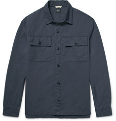 Albam Maritime Slub Cotton and Linen-Blend Overshirt