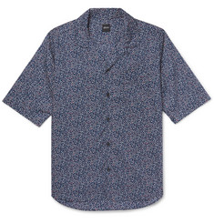 Albam Camp-Collar Printed Cotton-Voile Shirt