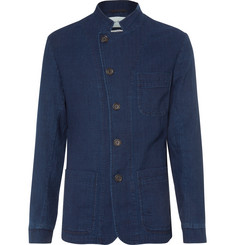 Oliver Spencer - Blue Washed-Cotton Canvas Blazer
