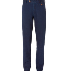 Oliver Spencer Slim-Fit Washed-Cotton Canvas Trousers