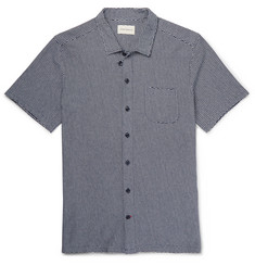 Oliver Spencer Slim-Fit Jacquard-Knit Cotton Shirt
