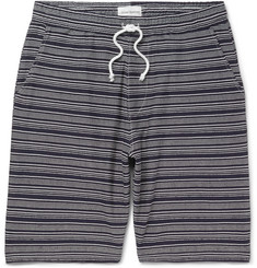 Oliver Spencer Weston Striped Cotton-Jersey Shorts
