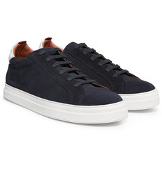 Oliver Spencer - Ambleside Leather-Trimmed Suede Sneakers