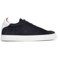 Oliver Spencer Ambleside Leather-Trimmed Suede Sneakers