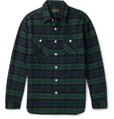 Beams Plus Slim-Fit Black Watch Checked Cotton-Flannel Shirt