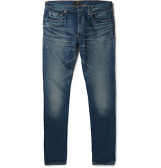 Beams Plus Slim-Fit Washed Selvedge Denim Jeans