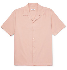 CMMN SWDN Camp-Collar Garment-Dyed Slub Cotton Shirt