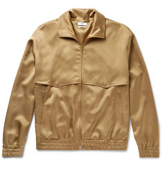 CMMN SWDN Appliquéd Satin Zip-Up Jacket