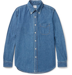 OrSlow Button-Down Collar Denim Shirt