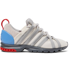adidas Consortium AdiStar Comp Advance Suede-Trimmed Mesh Sneakers