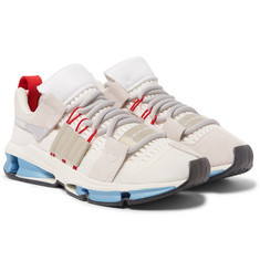 adidas Consortium - Twinstrike Advance Patent and Suede-Trimmed Mesh Sneakers