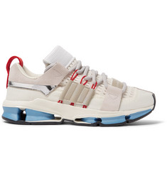 adidas Consortium Twinstrike Advance Patent and Suede-Trimmed Mesh Sneakers