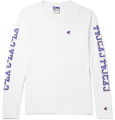 Beams + Champion Printed Cotton-Jersey T-Shirt