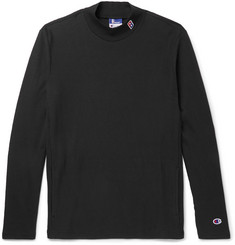 Beams + Champion Slim-Fit Cotton-Blend Jersey Mock-Neck Sweatshirt
