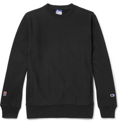 Beams + Champion Slim-Fit Loopback Cotton-Blend Jersey Sweatshirt