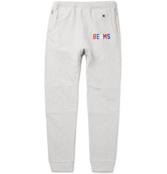 Beams + Champion Slim-Fit Tapered Loopback Cotton-Blend Jersey Sweatpants