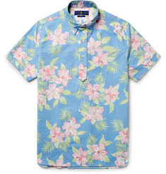 Polo Ralph Lauren Button-Down Collar Floral-Print Cotton Oxford Shirt