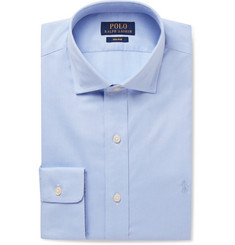 Polo Ralph Lauren Blue Cutaway-Collar Cotton-Poplin Shirt