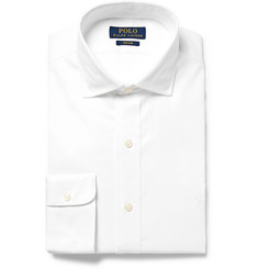 Polo Ralph Lauren White Slim-Fit Cotton-Poplin Shirt