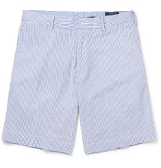 Polo Ralph Lauren - Striped Stretch-Cotton Seersucker Shorts