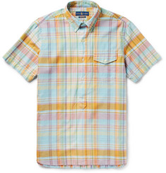 Polo Ralph Lauren Button-Down Collar Checked Cotton-Poplin Shirt