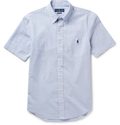 Polo Ralph Lauren - Button-Down Collar Striped Cotton-Seersucker Shirt