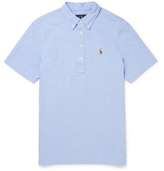 Polo Ralph Lauren Slim-Fit Button-Down Collar Cotton-Piqué Polo Shirt