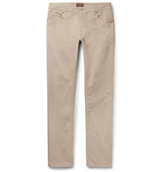 Tod's - Slim-Fit Stonewashed Stretch-Cotton Twill Trousers