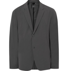 Theory Grey SYD Slim-Fit Waterproof Matte Stretch-Shell Blazer