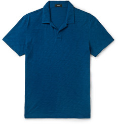 Theory Willem Nebulous Slim-Fit Slub Cotton Polo Shirt