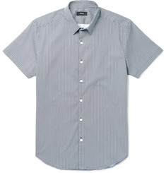 Theory - Zack Printed Stretch-Cotton Poplin Shirt