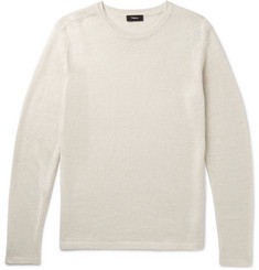 Theory Andrejs New Irish Linen Sweater