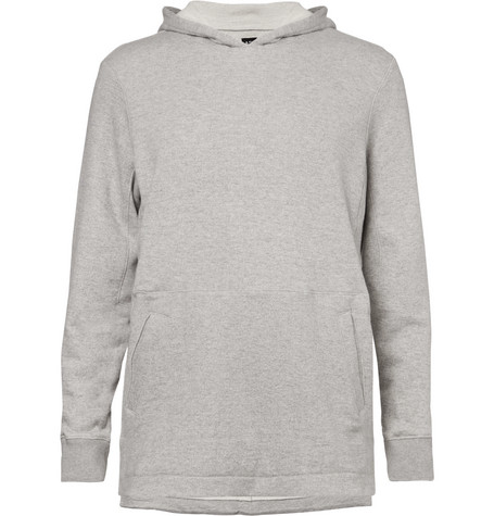 Apl Athletic Propulsion Labs The Perfect MÉLange Loopback Cotton-Jersey Hoodie In Light Gray