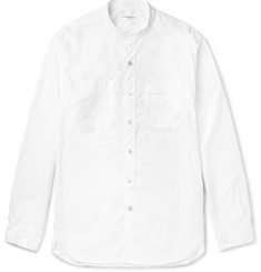 Engineered Garments Slim-Fit Grandad-Collar Cotton-Poplin Shirt