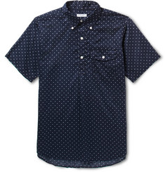 Engineered Garments Button-Down Collar Half-Placket Polka-Dot Cotton Shirt