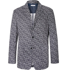 Engineered Garments - Blue Baker Slim-Fit Paisley-Print Cotton-Voile Blazer