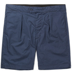 Engineered Garments - Sunset Slim-Fit Polka-Dot Cotton-Poplin Shorts