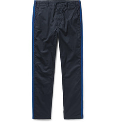 Engineered Garments Prospect Canvas-Panelled Cotton-Twill Trousers