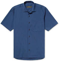Freemans Sporting Club - Camp-Collar Cotton-Blend Seersucker Shirt