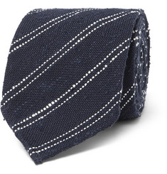 Thom Sweeney 8cm Striped Silk and Cotton-Blend Tie
