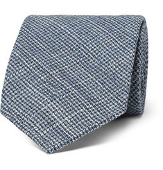 Thom Sweeney 7.5cm Puppytooth Wool and Silk-Blend Tie