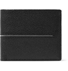 Tod's Striped Pebble-Grain Leather Billfold Wallet