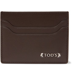 Tod's Embellished Grained-Leather Card Holder