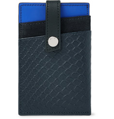 WANT LES ESSENTIELS Kennedy Colour-Block Leather and Suede Cardholder with Money Clip