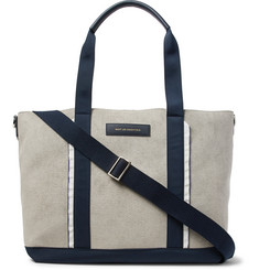 WANT LES ESSENTIELS Marti Nylon and Leather-Trimmed Faux Suede Tote Bag