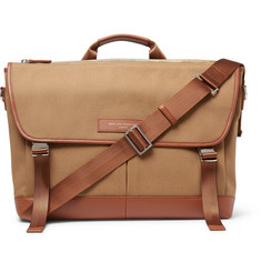 WANT LES ESSENTIELS Jackson Leather-Trimmed Organic Cotton-Canvas Messenger Bag